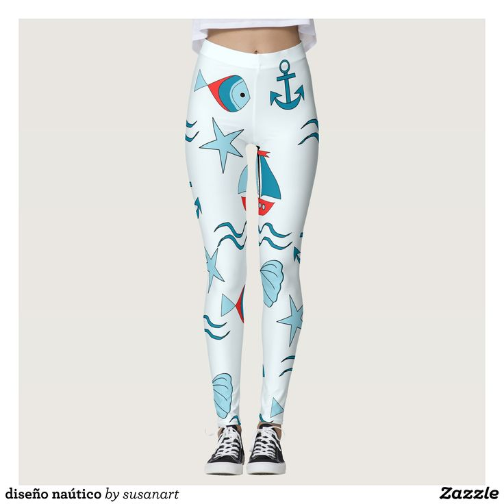 design nautical leggings : Beautiful #Yoga Pants - #Exercise Leggings and #Running Tights - Health and Training Inspiration - Clothing for #Fitspiration and #Fitspo - #Fitness and #Gym #Inspo - #Motivational #Workout Clothes - Style AND #comfort can both be possible in one perfect pair of custom #leggings. #design nautical leggings was crafted made with care each pair of leggings is printed before being sewn allowing for #fun and #creative designs on every square inch - Medium weight #fabric…