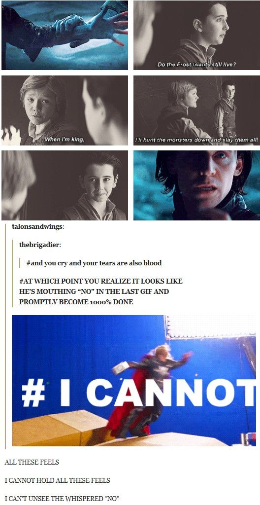 """I CAN'T UNSEE THE WHISPERED NO!"" Hahah, oh Tumblr...(any wonder why Loki didn't want Thor to come back? :P Good job, Odin and Frigga, mighty fine work you've done!)"