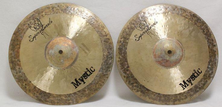 """719 Supernatural Mystic Top Bottom 14"""" Hi Hat Cymbal Symbol Pair For Drum Set Hihat #Supernatural #drum #cymbal #mystic #hihat #sale"""