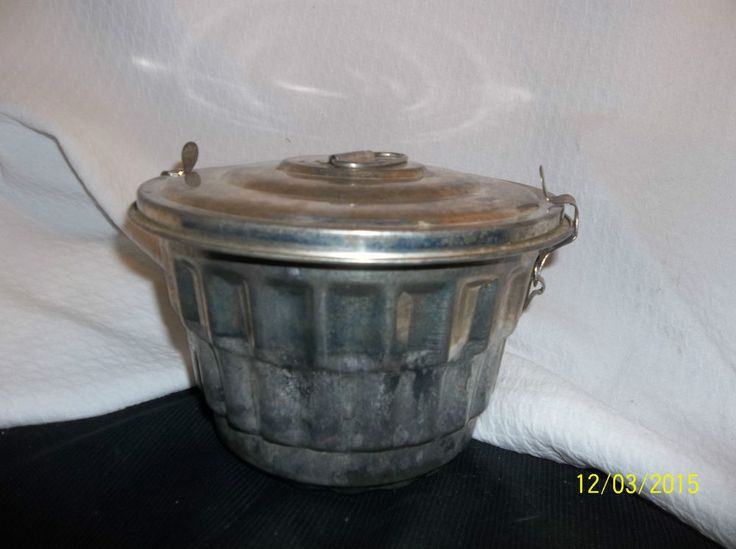 Vintage 2 Piece Steamed Pudding Pan Tin W Steamer
