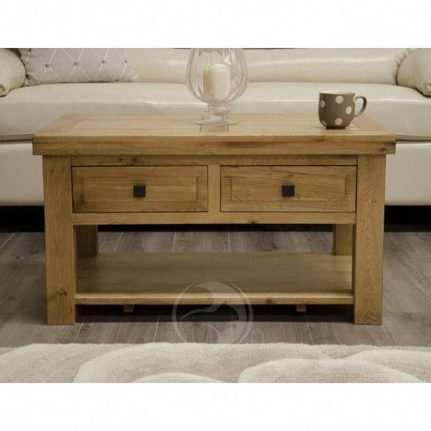 Coniston Rustic Solid Oak Coffee Table With Drawers Furniture Uk Furnitureuk