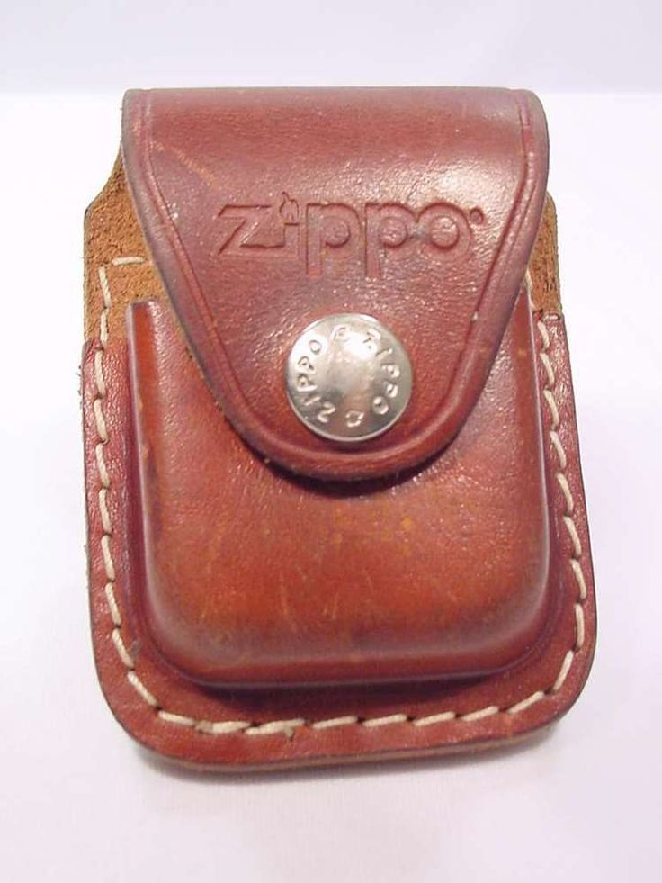 ZIPPO Leather Case with Belt Clip and Zippo Snap ~ Used VG ~ Made in USA  #Zippo