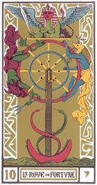 Tarôt - Oráculo Milenar: Arcano X (10) - A Roda da Fortuna