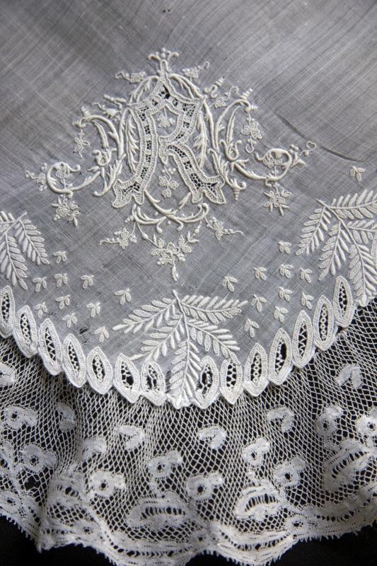 Mouchoir De Mariée,dentelle Ancienne,antique Lace,Wedding Handkerchief,Hanky