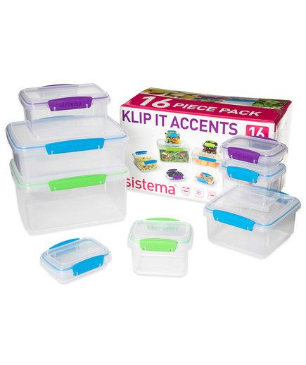Sistema Klip It Containers | These picks from organizing pros will keep your goods neatly sealed, stacked, and in sight.