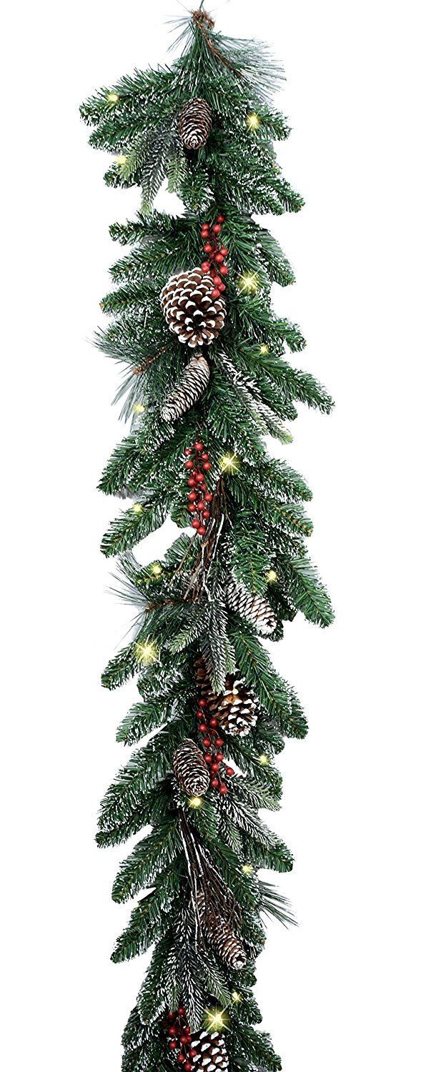 Best Lighted Christmas Garlands Of 2020 Twig Christmas Tree Christmas Pine Cones Christmas Lights