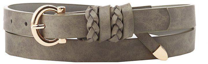 Charlotte Russe Plus Size Braid-Trim Faux Leather Belt #BraidedBeltleather