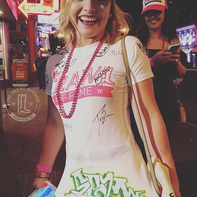 Sweet Ink. Going above and beyond to get the Guitar! ❤️🤠😎🍺💯🔥  The Crawl Of Fame. Nashville's #1 Bar Crawl Experience. Compete for games and prizes and WIN A GUITAR every tour!  Call us and book your tour today. Ask about group discounts and full packages.  #crawloffame #nashville #barcrawl #countrymusic #fun #games #tours #bachelorette #bachelor  #party #corporateevents #vacations #drinking #adventures #somuchfun #omg #lol #we #are #awesome #hashtag #crawloffame #tuesday #nightlife…