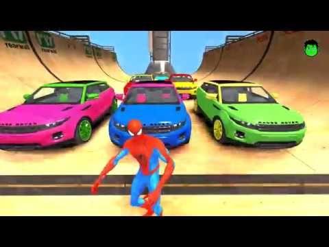 RECKLESS паук Сокрушает цвета автомобиля внедорожник! Детские песни в ре...