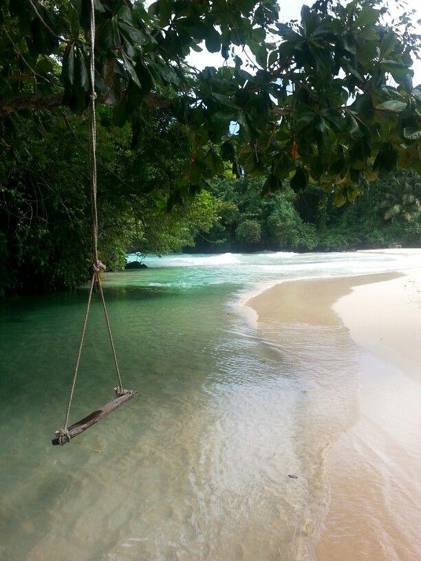 My fav spot in Jamaica where river meets ocean.