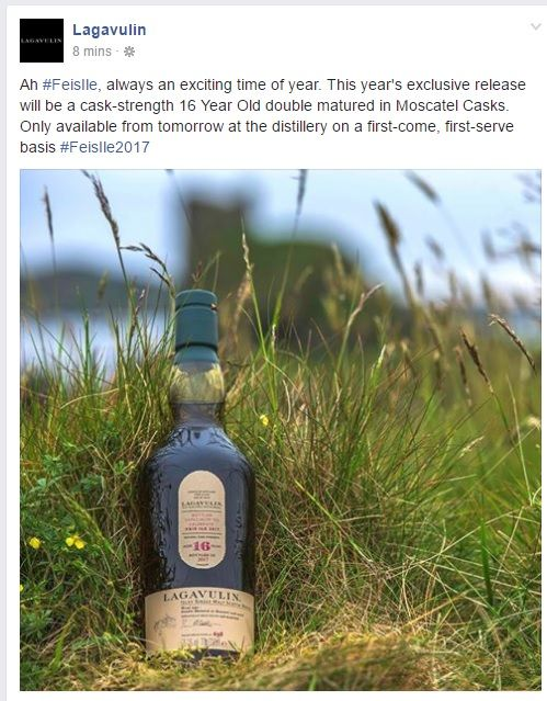Feis Ile 2017 - Lagavulin's exclusive release will be a cask-strength 16 Year Old double matured in Moscatel Casks #scotch #whisky #whiskey #malt #singlemalt #Scotland #cigars