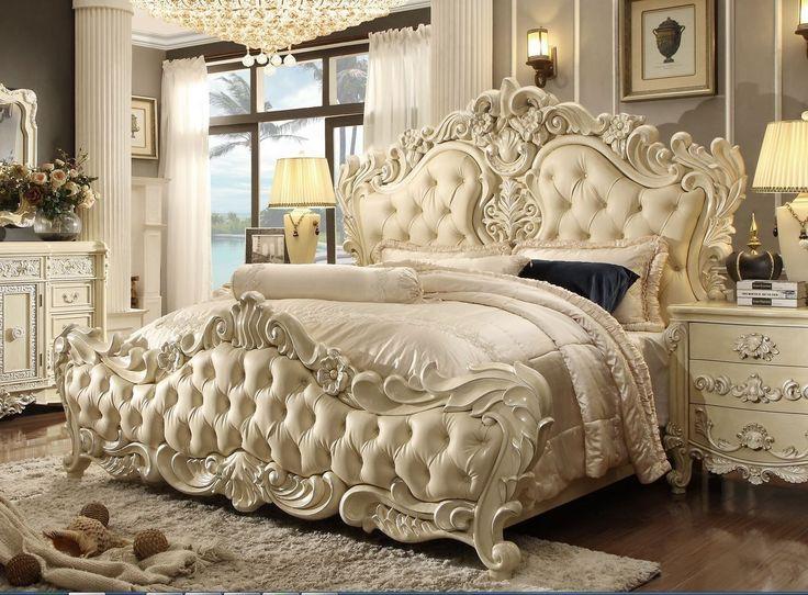 Dormitorio de estilo victoriano Establece Ideas de diseño moderno precioso