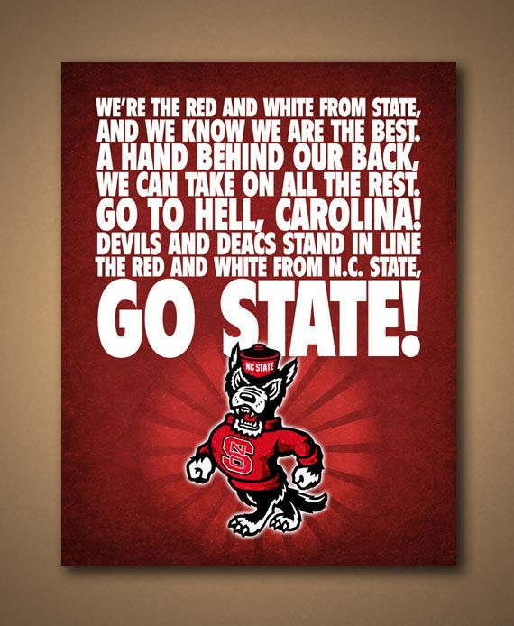 NC+State+WOLFPACK+Fight+Song+Poster++by+ManCaveSportsSigns. Fight SongBonus  RoomsDorm ... Part 60