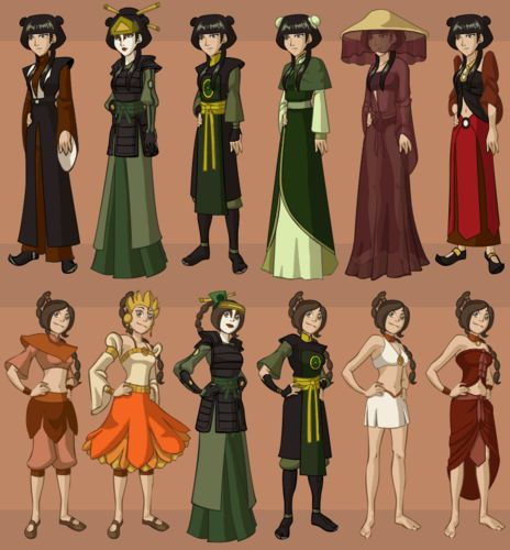 Avatar Airbender: All Of Mai/Ty Lee's Outfits/appearances.