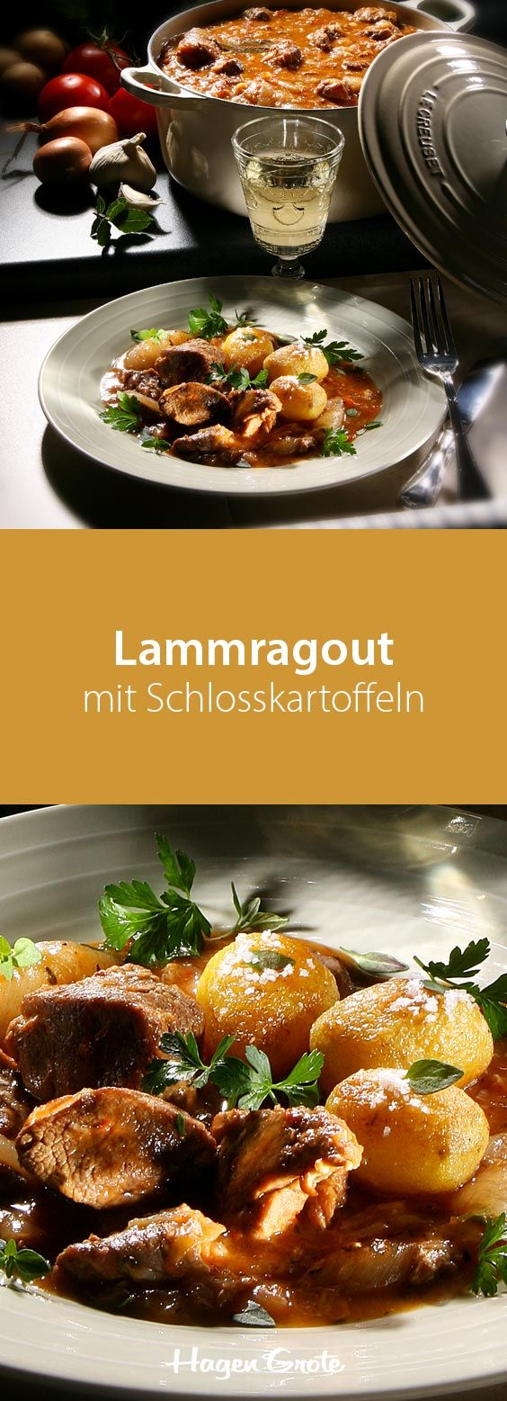 Lammragout mit Schlosskartoffeln
