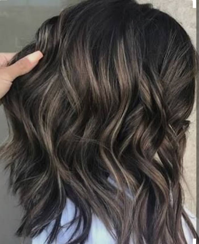 Ash Bayalage On Dark Brunette Base Ash Hair Color Ash Blonde