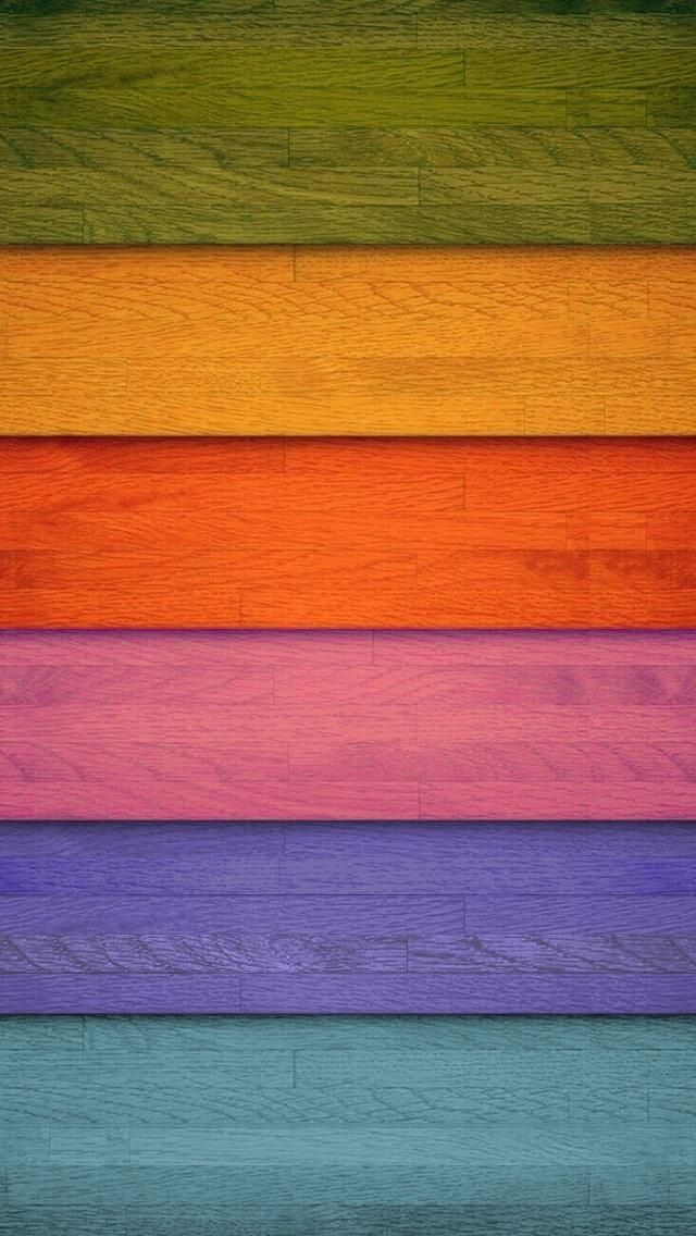 !!TAP AND GET THE FREE APP! Shelves Stripes COlorful Wooden Homescreens HD iPhone 5 Wallpaper