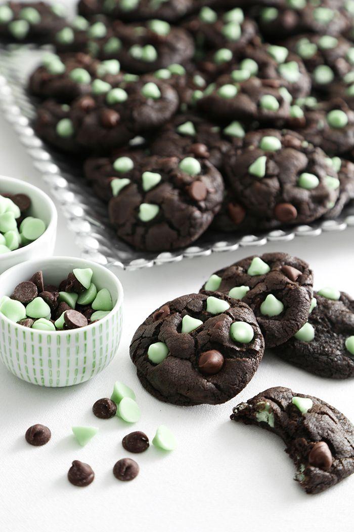 double chocolate mint chip cookies mint cookies recipes mint chip cookies mint chocolate chip cookies pinterest