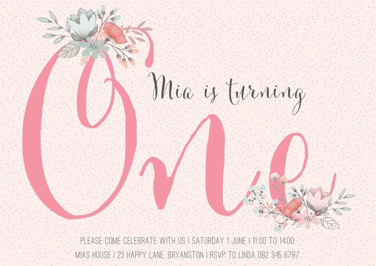 First Birthday Invitation by Very Cherry