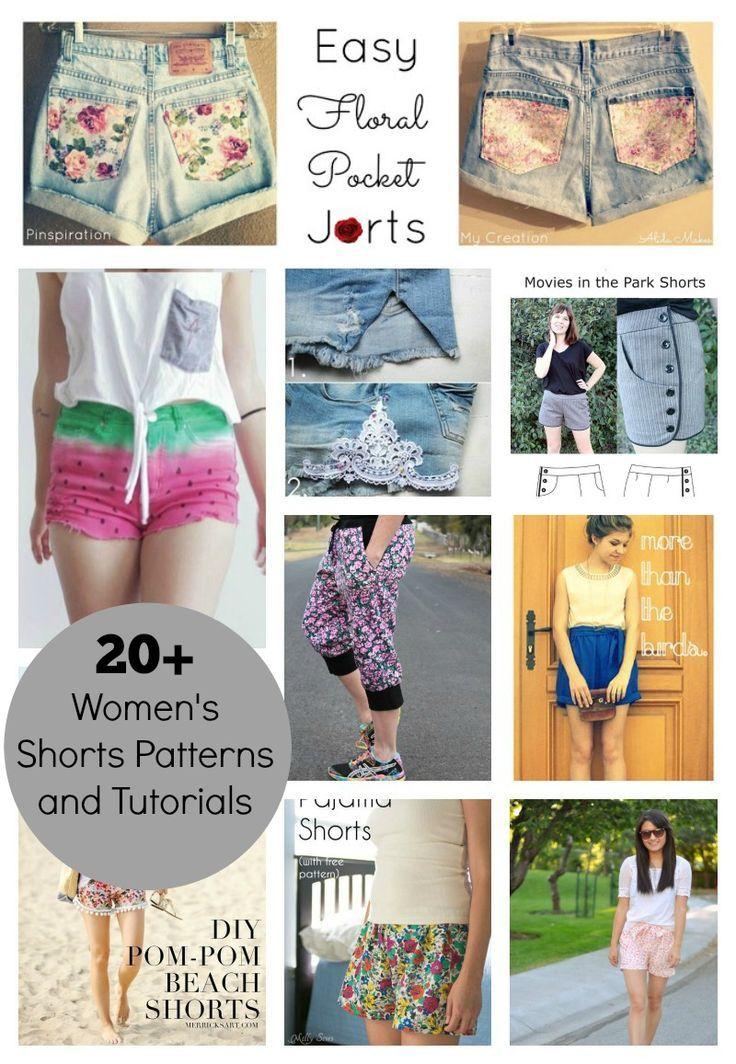 20+ Women's DIY Shorts Patterns and Tutorials