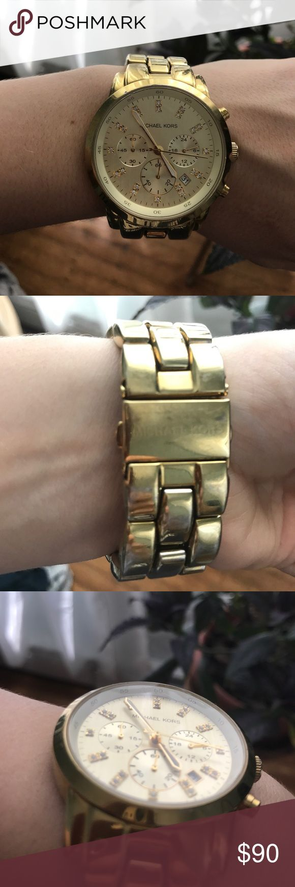 Michael Kors Big Face Boyfriend Watch Michael Kors Boyfriend Watch, some wear on the inside of the wrist but in very good condition besides that. I do not have the extra links. Michael Kors Jewelry
