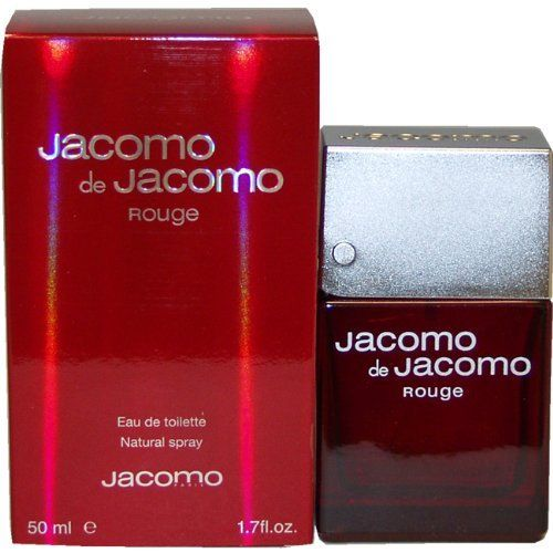 Jacomo de Jacomo Rouge by Jacomo for Men - 1.7 Ounce EDT Spray by Jacomo. $15.60. Packaging for this product may vary from that shown in the image above. This item is not for sale in Catalina Island. Introduced in 2002. Fragrance notes: patchouli, citrus, tonka and muguet blend to create this woodsy scent. Recommended use: casual.When applying any fragrance please consider that there are several factors which can affect the natural smell of your skin and, in turn, the way a sce...