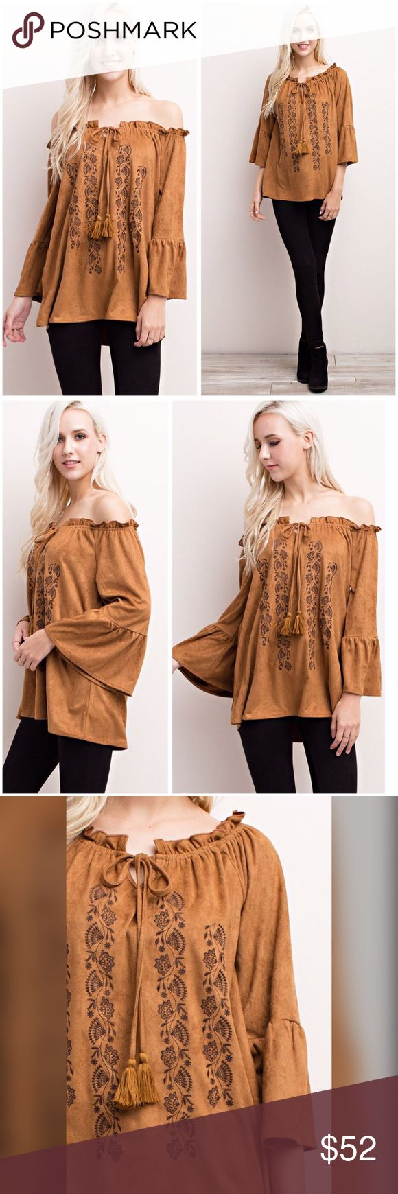 designer ties men edhz  Gorgeous faux suede off or on shoulder top! Beautiful in camel with black  design