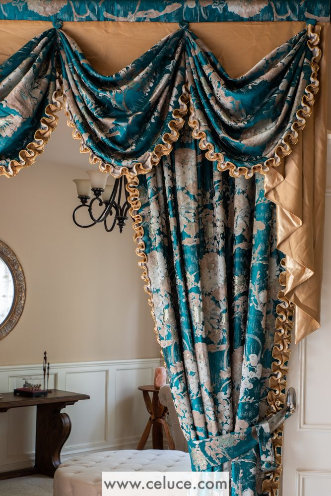 Enjoy The Premium Quality Of Custom Made Curtain From Www Celuce Com With The Convenience And Affordability Of Pre De Unique Curtains Swags And Tails Curtains