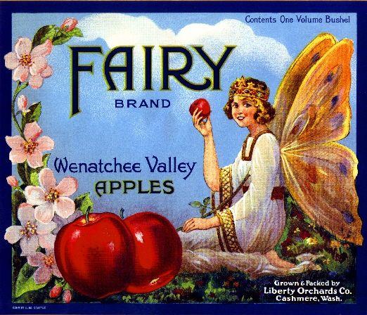Washington State Apple Fruit Crate Label