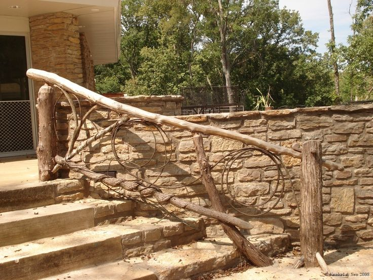 top 25 ideas about rustic deck path railings on pinterest. Black Bedroom Furniture Sets. Home Design Ideas