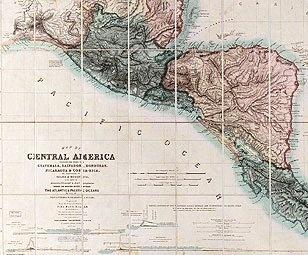 Mapa de América Central incluidos los estados de Guatemala, El Salvador, Honduras, Nicaragua y Costa Rica, los territorios de Belice y Mosquito, con partes de México, Yucatán y Nueva Granada. Grabado sobre un diseño original de John Baily