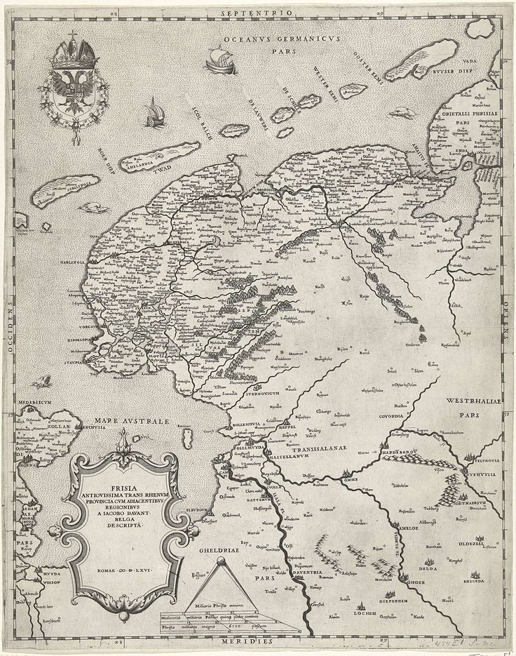 kaart van friesland, groningen, drenthe en overijssel | anonymous after jacob van deventer | 1566