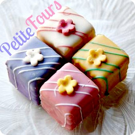 I love Petite Fours! Typically served with afternoon tea, or high tea http://www.ifood.tv/recipe/petits_fours