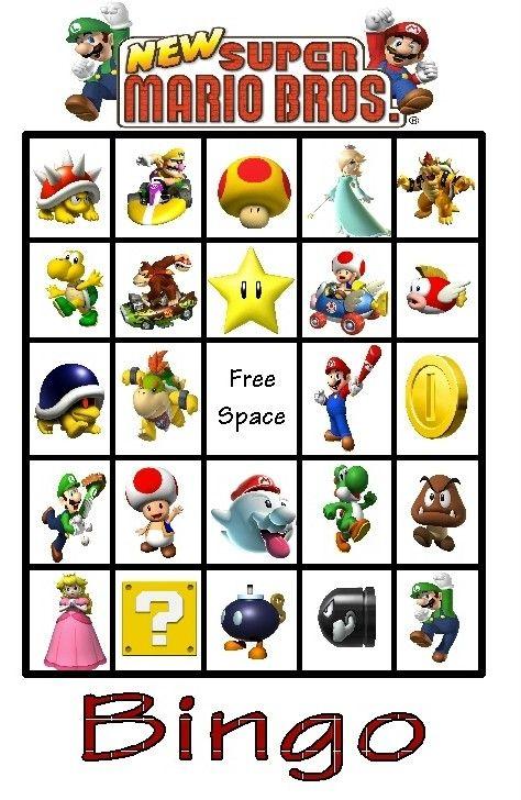 Mario Bingo … | Pinteres…