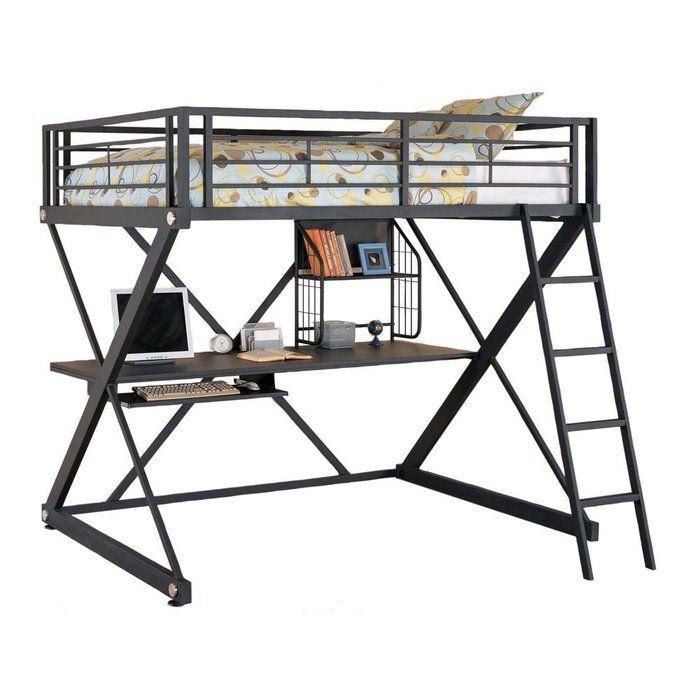 Loft bunk with desk furniture pinterest study desks for Loft bed with study desk