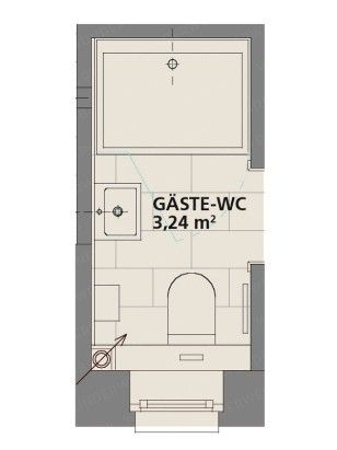 g ste wc ein mini spa f r ihren besuch grundrisse. Black Bedroom Furniture Sets. Home Design Ideas