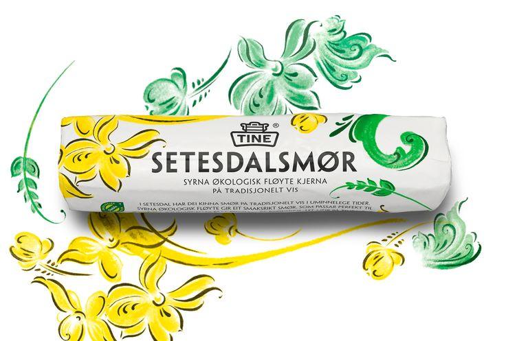 TINE Opprinnelse setesdalsmør. Butter packaging design @tangramdesign