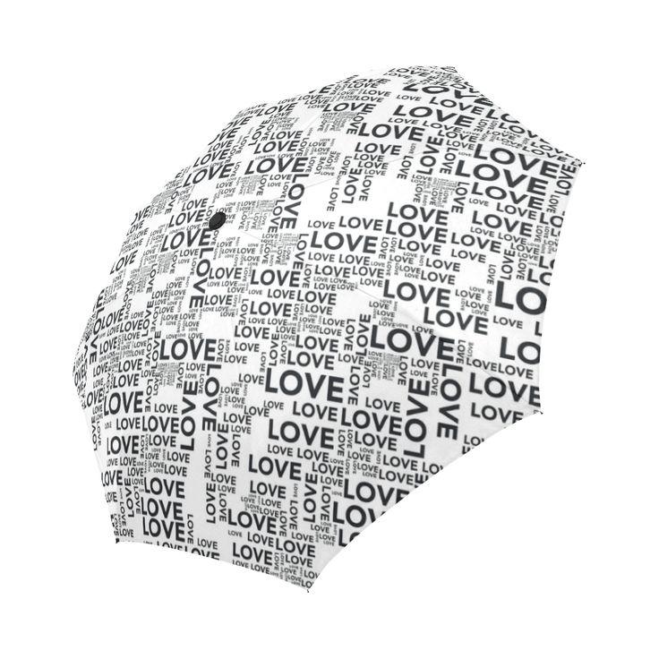 Love Words Auto-Foldable Umbrella