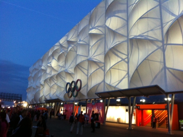 One of our lucky colleagues at the Olympic Games, sent us some 'live' pics from Olympic Park.