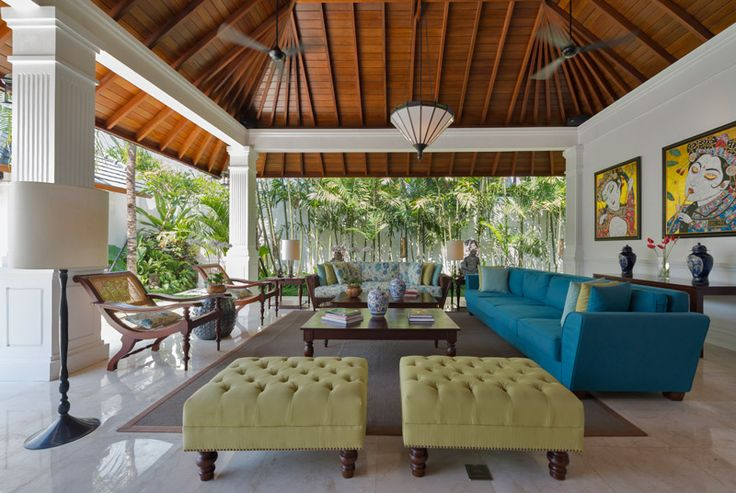 Living and dining by the pool at Windu Asri by Windu Villas