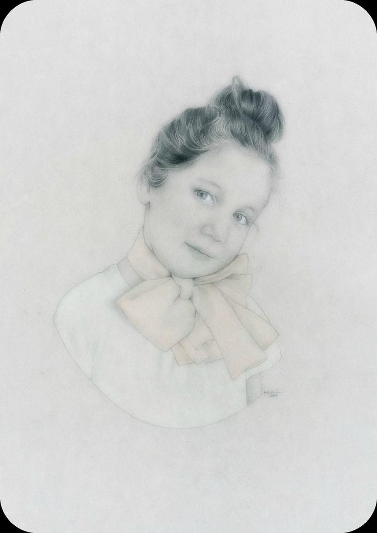 'Living Doll No. 2' - pastel and pencil. www.kyliekinghazel.blogspot.com