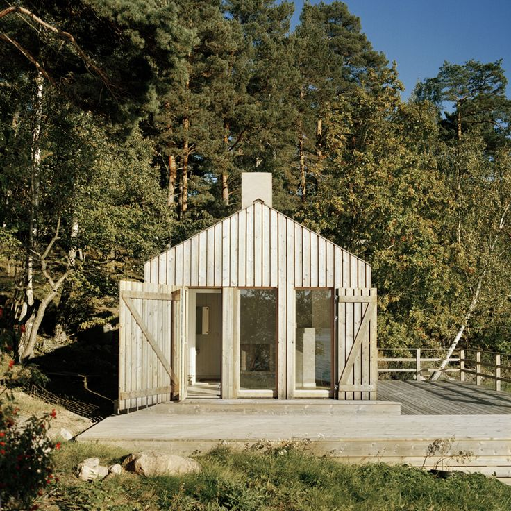 Architect Visit: A Private Sauna on a Swedish Fjord: Gardenista