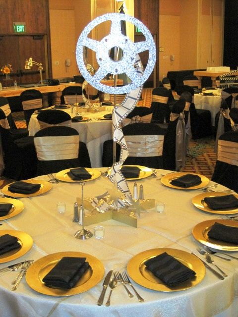 Film reel centerpieces in 2020 Old hollywood party