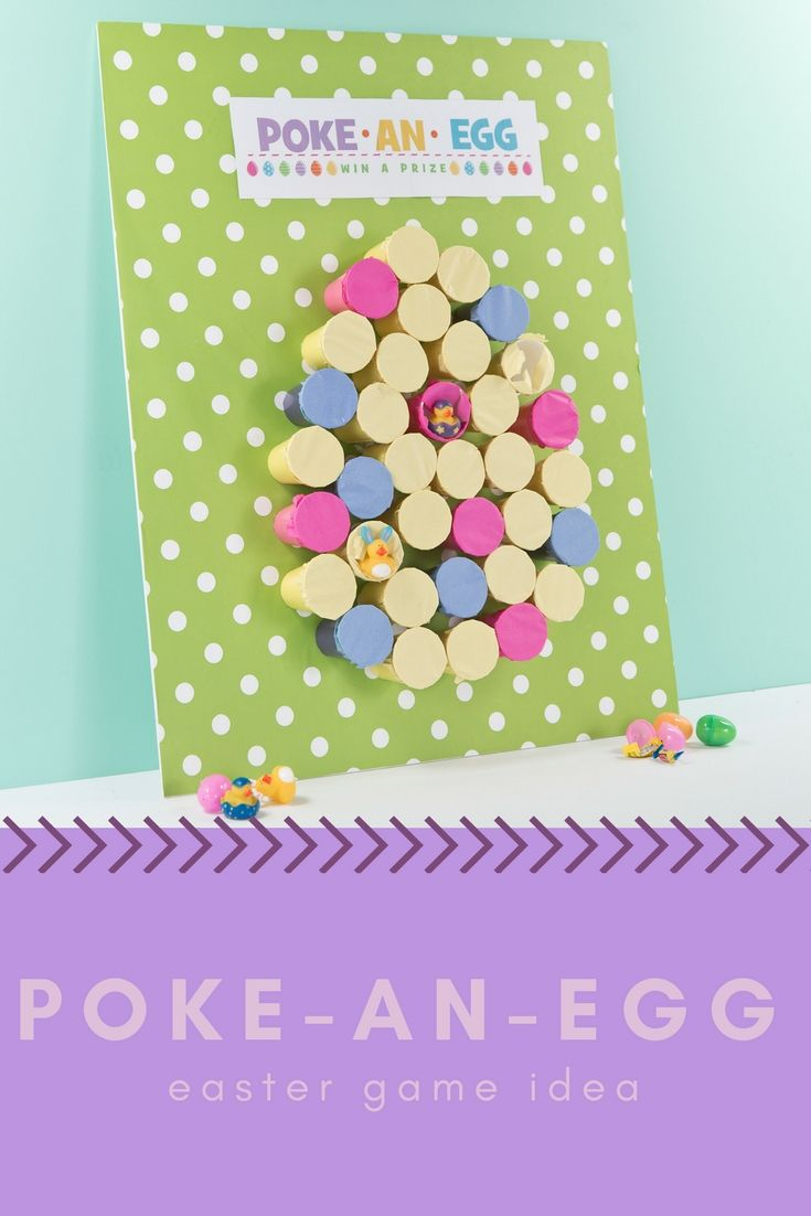 create this fun diy outdoor game for kids this easter! this poke-an