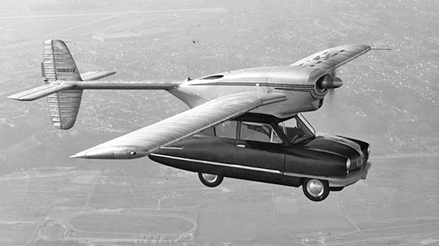 1947 experimental car with detachable wings.