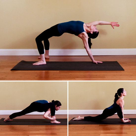 Yoga sequence for running.