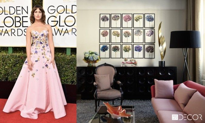 If Dresses from the 2017 Golden Globes Red Carpet Were Rooms... on MotleyDecor.com