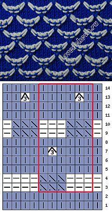 узор 413 | каталог вязаных спицами узоров