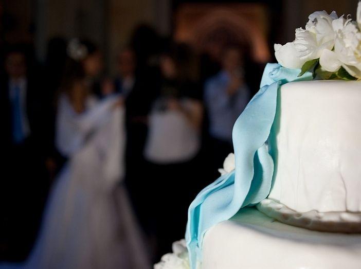 Torta matrimonio dettaglio turchese - Wedding cake with turquoise detail