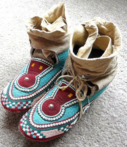 Native American Indian Beadwork, moccasins, pipebags, medicine bags, knives and sheaths, dance regaila